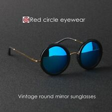 Vintage round sunglasses THE ROW womens eyeglass black mirror blue lens suniess