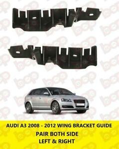 AUDI A3 2008 - 2012 FRONT BUMPER BRACKET WING SUPPORT GUIDE PAIR LEFT & RIGHT