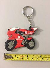 motorcycle keychain Rubber Suzuki Red