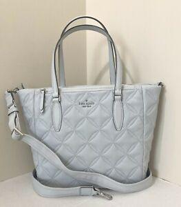 New Kate Spade Jae Medium Satchel Nylon handbag Quilted Moonlight