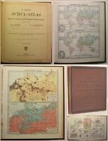 Krichhoff/ Kropatscheck Debes Schul-Atlas 1909 Geografie Geographie Wissen sf