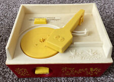 FISHER PRICE Music Box Record Player with 5 Records WORKS