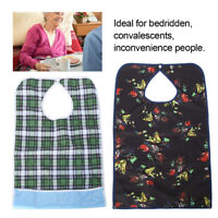 2pcs Long Adult Mealtime Bib Protector Eating Aid Washable Clothes