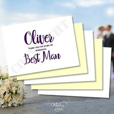 Thank You for Being My Best Man Groomsman Usher Page Boy Ring Bearer Post Card