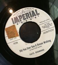 FATS DOMINO Did You Ever See A Dream Walking / Stop The Clock AUDITION Vinyl 45