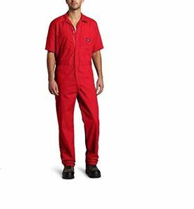 DICKIES Overall Arbeitskleidung Arbeitsoverall Arbeitsanzug Gr. L Kurzarm rot