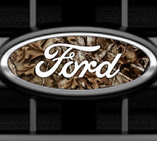 1 CAMO Ford Emblem Overlay VINYL GRAPHIC DECAL STICKER Any Year / Model Custom