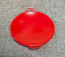 "Byers' Choice Accessory Red Round Plastic Saucer with Two Handles 4 1/2"" Overall"