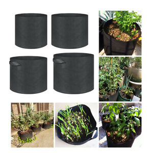 1-30 Gallon Flower Plant Grow Bags Aeration Fabric Planter Root Growing Pots E5