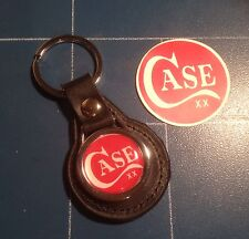 CASE CUSTOM KNIVES: REAL LEATHER KEY RING & CASE PHONE STICKER