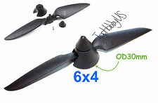 6x4 Plastic Folding Propeller Assembly (2.3mm Blush Motor Only),  (US SELLER)