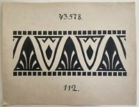 Jugendstil Entwurf Skizze Studie 112 Art-Nouveau Fliesen Bordüre? Dekoration