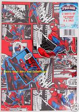 Carta da pacco 2 FOGLI 2 ETICHETTE CLASSIC MARVEL COMICS STRIP Ultimate Spiderman