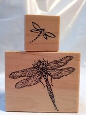 PSX F-2870 B-2939 Dragonfly Flying Insect Bug wood block Rubber Stamp Not Inked