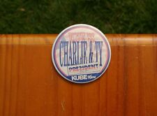 """Vote '88 Charlie & TY President Why Not? KUBE 93 FM 3"""" Lapel Pin Pinback Button"""