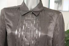 bonito camisa satinado calado gris pardo mujer HUGO BOSS talla 40