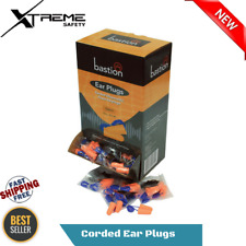 Disposable Foam Corded Ear Plugs Noise Reducer Individual Wrap 100 pairs