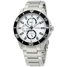 Citizen Eco-Drive Silver Dial Chronograph Men's Watch AP4030-57A