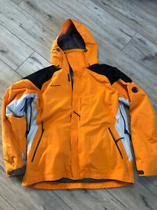 Men's Mammut Alaska Drytech Shell Ski Mountain Orange Jacket Size XL