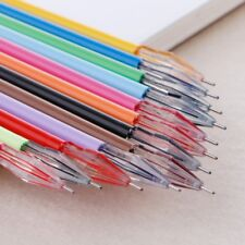 12Pcs Cute Colorful Gel Ink Pen Refills 0.5mm Stationery School Office Supplies
