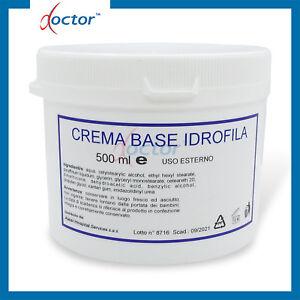 Crema Base Idrofila neutra magra pura per uso Farmaceutico e Dermatologico 500 g