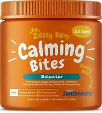 Zesty Paws Turkey Calming Soft Chews for Dogs - 90 Count