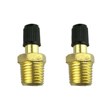 2PC 1/4 Inches NPT MPT Solid Brass Air Compressor Tank Fill Valve Schrader NEW