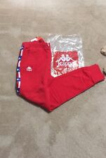 New Kappa Jogger Pants Red Large Cuffed Track Vintage NWT Gosha Retro Mens 120
