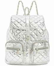 Steve Madden Womens Hollie Quilted Backpack, Store Return (Silver)