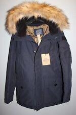 NEW JCREW Men's NORDIC DOWN PARKA HOODED COAT Sz XL, NAVY E1315 winter coat