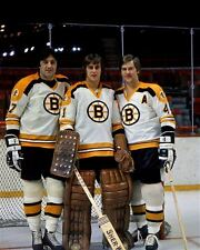Bobby Orr, Phil Esposito, Gilles Gilbert Boston Bruins 8x10 Photo