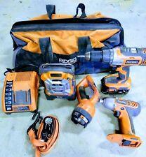 Ridgid Tools 18V Tool Combo Kit HYPER Lithium-Ion Batteries 6 Piece Tool Set