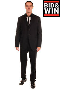 RRP€210 CITY TIME Single Breasted Suit Size 54 2XL Wool Blend Notch Lapel Collar