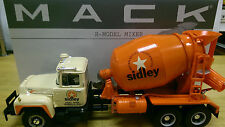 LOT OF 3 ASST. LARGE MACK CEMENT MIXER TRUCKS ALL MINT IN BOXES BY FIRST GEAR