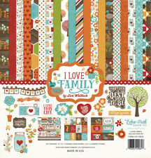 Echo Park - I Love Family 12x12 Scrapbook Kit Papers + Stickers Thankful Blessed