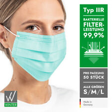 Medizinische Einweg OP-Masken 3-lagig Typ II R DIN EN 14683 (99,99% BFE) – grün
