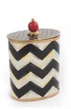 SoLD OUt Mackenzie Childs Zig Zag Cotton Box-NEW &AuTHenTIc