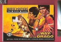 BRUCE LEE WORN SUSPENDERS MATERIALS RELIC CARD AMERICANA MOVIE POSTERS DRAGON