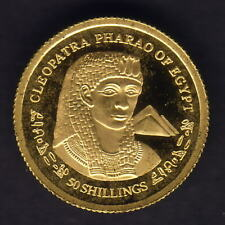 Somalia.. 2004 Gold 50 Shillings..  Cleopatra..  1.224gms  .9999 gold.. Proof