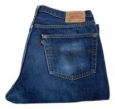Mens Levi Strauss 501 Straight Leg Jeans Waist 38 Leg 34 Button Fly (P0756)