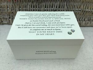 Personalised LARGE Memory Box In Memory Of HUSBAND / Loved One Any Name Memorial