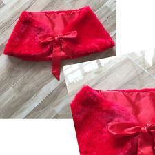 Bridal Wrap Faux Fur Shawl Shrug Bolero Red Size L Ribbon Closure USPS 1st Clas