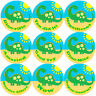 144 Big Green Dinosaur 30mm Children's Reward Stickers for Teacher, Parent,