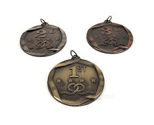 3pc Set. Award Medals 1st 2nd 3rd place Gold Silver Bronze 2.5in metal (1 of ea)