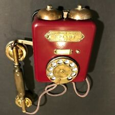 """1920 RARE ANTIQUE WALL ROTARY DIAL DISK TELEPHONE  """"P.T.V.G.D."""" """"VEF"""" """"P.RAASHE"""""""