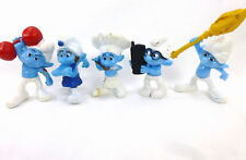 Smurf McDonalds 2011 3in Figures Lot of 5 used
