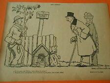 Beau Chien de Police à vendre il a pas l'air féroce Humour Print 1913