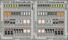 NEW 1:32 Eduard 32517 Lockheed-Martin F-16 Falcon Data Placards