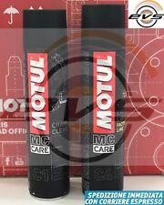 Kit per Catena moto MOTUL C1 Clean + Grasso Spray C4 Factory Chain lube 2x400ml