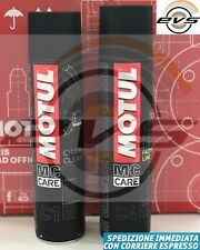 Kit Pulizia Catena Moto Strada MOTUL C1 Chain Clean + Grasso Spray C4 FL 2x400ml